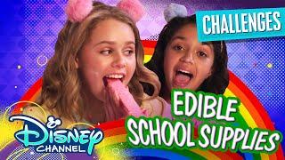 Edible School Supply Challenge 😋 | Ruth & Ruby Ultimate Sleepover | Disney Channel