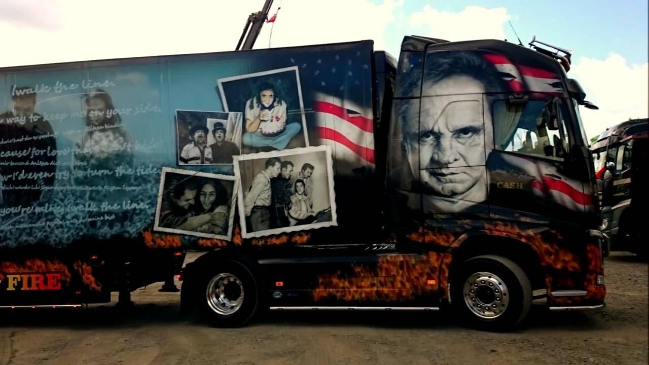 Johnny Cash Truck - Volvo FH 540 - YouTube