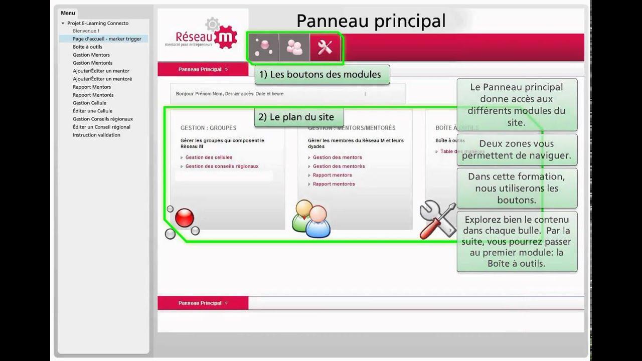 Exemple d'un site Intranet simulé - YouTube