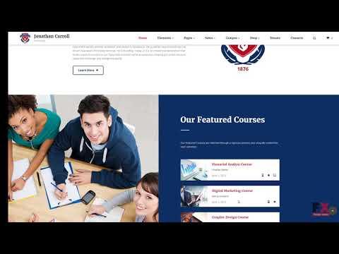 University Responsive Website Template TMT | Free Template  Vere Mel