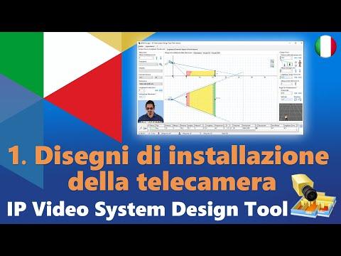 Parte 1: Disegni di installazione della telecamera. Come progettare un sistema TVCC con JVSG Tool.