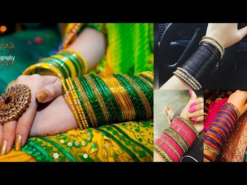 Beautiful bangles set design ideas for Indian brides/Churi set design ideas for wedding outfits