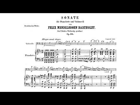 Felix Mendelssohn - Sonata for Cello and Piano No. 2 [With score]