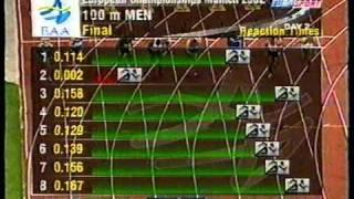 2002 European Championships, Munich 100m Nemeth Roland