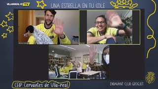 Pedraza y Coronel disfrutan de 'Una Estrella en Tu Cole' con el CEIP Cervantes de Vila-real
