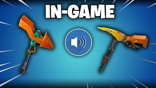 Fortnite EXCLUSIVE 'Powergrip' & 'Pointer' PICKAXES Gameplay! (Sound, Audio, Unlocking)