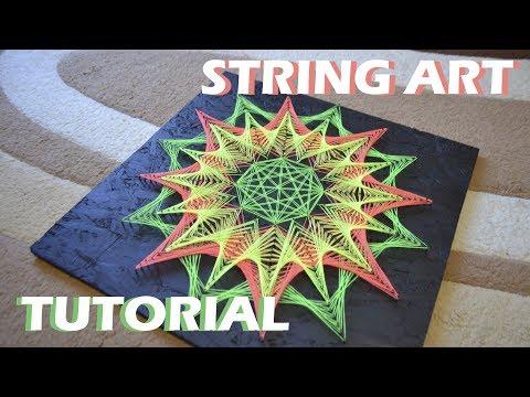 NEON STRING ART | TUTORIAL | DIY | timelapse thumbnail