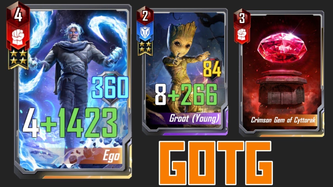 EGO AND GROOT COMBO   MARVEL DUEL