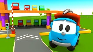 Грузовичок Лёва - машинки конструктор - Парковка для машинок - Развивающие мультфильмы