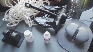Якорь в лодку и тест насоса для лодки ПВХ(Опыт наклеивания якоря на лодку ПВХ, а также кратко про электронасос. Я должен был наклеить ролик для якоря..., 2016-09-18T07:00:02.000Z)