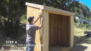How To Build A Lean To Shed - Part 6 - Trim Install