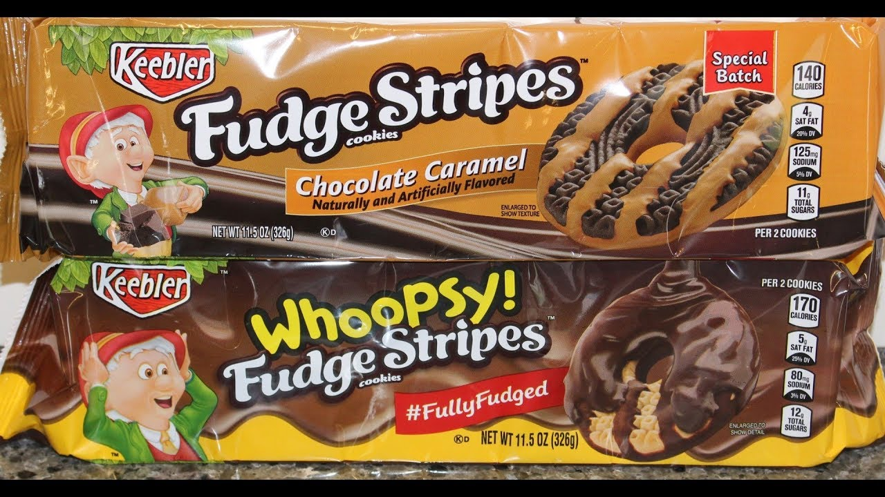 Keebler Fudge Stripes Chocolate Caramel And Whoopsy Cookie Review