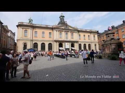 Stockholm ,Sweden Walking travel tour Old Town, Gamla Stan Ultra 4K