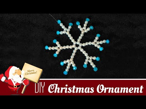 DIY Beaded snowflake ornament | Christmas ornaments |  Christmas Decorations ideas | Beads art
