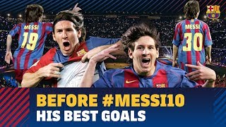 #MESSI10 | Messi's best goals before taking the number 10