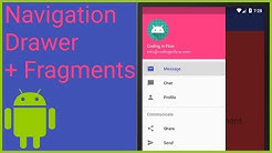 Navigation Drawer with Fragments Part 1 - MENU AND ACTIVITY THEME - Android Studio Tutorial