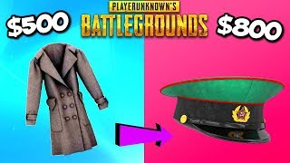 TOP RAREST EXPENSIVE PUBG ITEMS AND SKINS! - PlayerUnknownsBattlegrounds All Crate Items