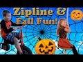 Fun Rides Zipline and Games at a Corn Maze Fall Festival at Farm Petting Zoo!