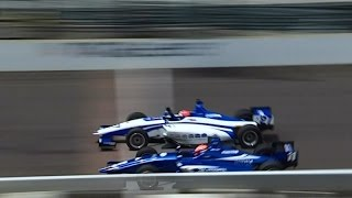 2016 Indy Lights Freedom 100 Finish Dean Stoneman wins by .0022