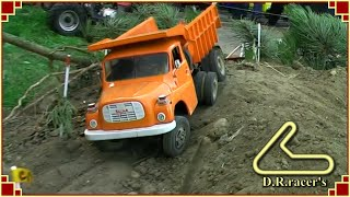 RC Models at TruckFest08 - truck trial course