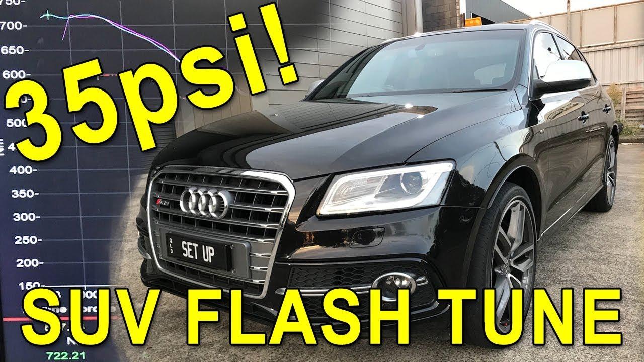 Flash Tuning An Audi Sq5 Twin Turbo Daily Driver To 35psi Dyno 0