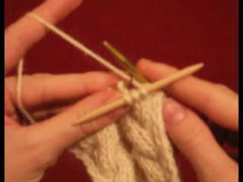 Knitting How To Cross Cables With A Cable Needle Youtube