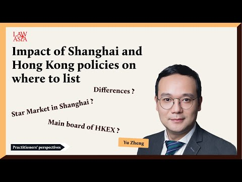How do different policies in Shanghai and Hong Kong impact companies' choices of listing locations?