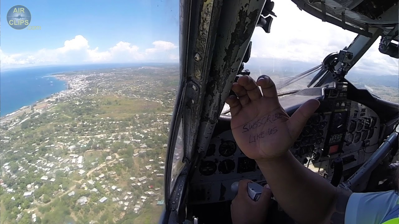 Download Trust Captain Jerry, HE'S RIGHT!!! Perfect Dash 6 Cockpit Landing in Honiara!!! [AirClips]