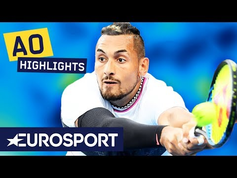 Nick Kyrgios vs Milos Raonic Highlights | Australian Open 2019 Round 1 | Eurosport