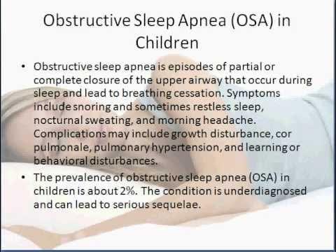 Sleep apnea symptoms in adults