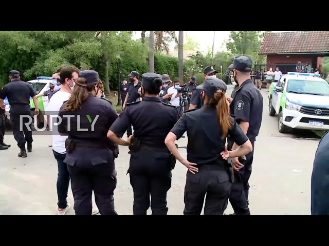 Argentina: Vehicle carrying Maradona's body leaves Tigre residence where he died