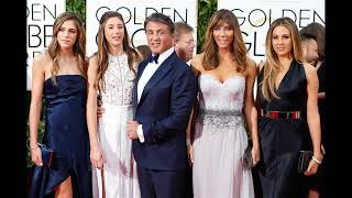 actor Sylvester Stallone with his wife Jennifer Flavin and Their daughters