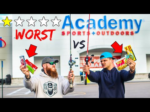 Buying WORST Fishing Lures In Academy (1v1 Challenge)
