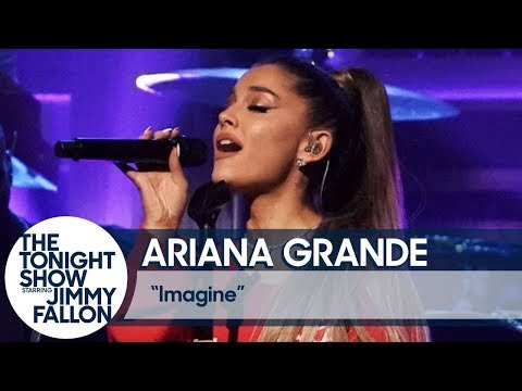 Club KISS - Ariana Grande Performed 'Imagine' On The Fallon Tonight Show