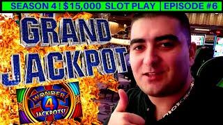 I Hit My 1st GRAND JACKPOT - Wonder 4 WILD PANDA Slot Machine $10 MAX BET | Season 4 | EPISODE #6