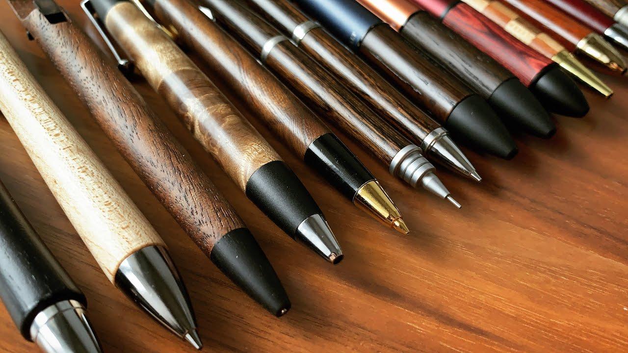 持っている木軸ペン全て紹介!My Wooden Pen Collection【文房具/シャーペン/ボールペン/多機能ペン/野原工芸/stationery/】