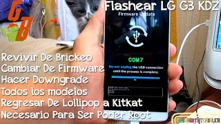 Flashear LG G3 KDZ con Android | 2018 | - CesarGBTutoriales