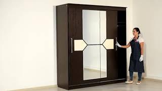 видео Купить шкаф-купе 2 двери ШК-3-2 венге недорого