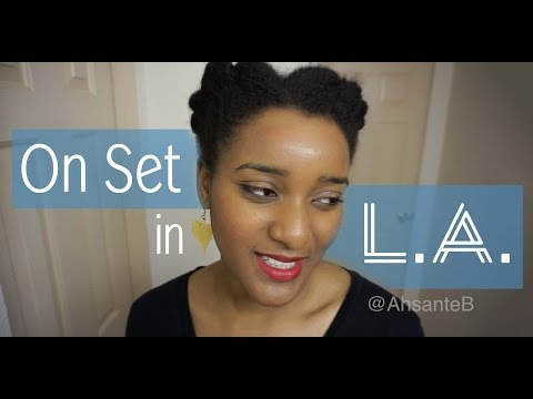 Production Assistant in Los Angeles - Day 2 On Set | Ahsante the Artist