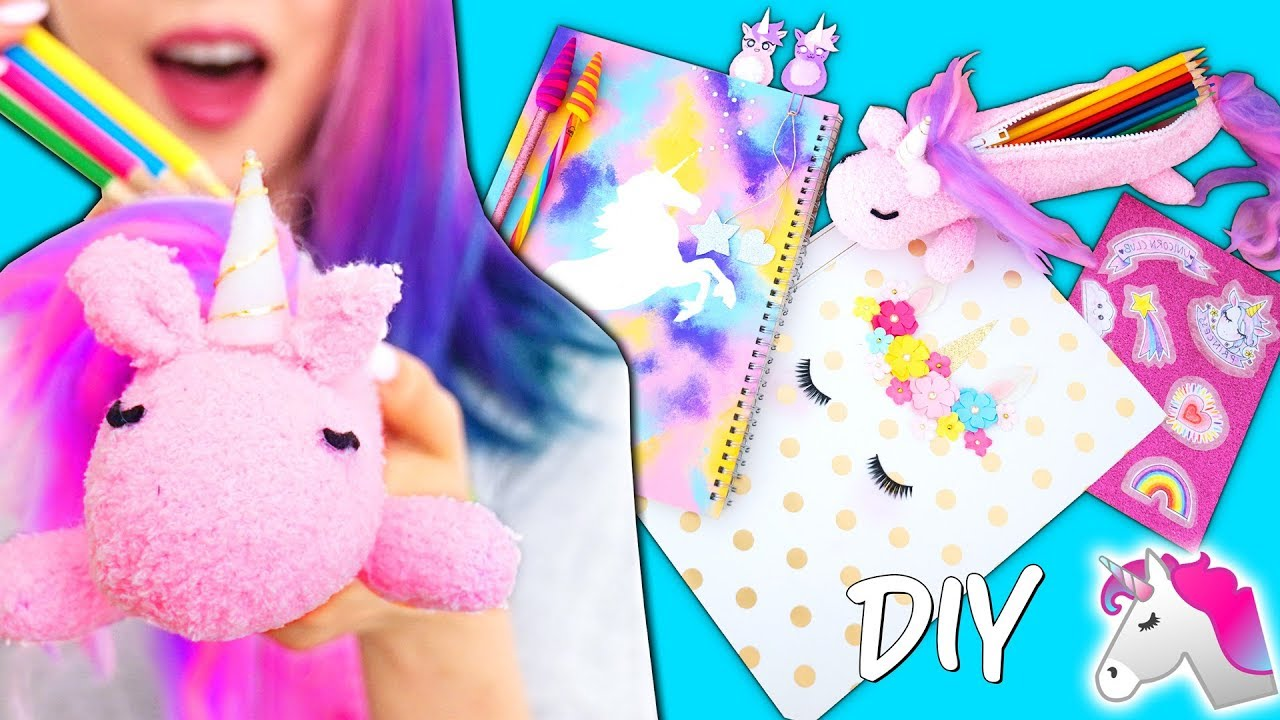DIY Unicorn School Supplies! Learn How To Make Cutest Unicorn Crafts
