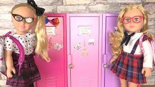 Baby Doll School Toys with American Girl School Locker with Jojo Siwa