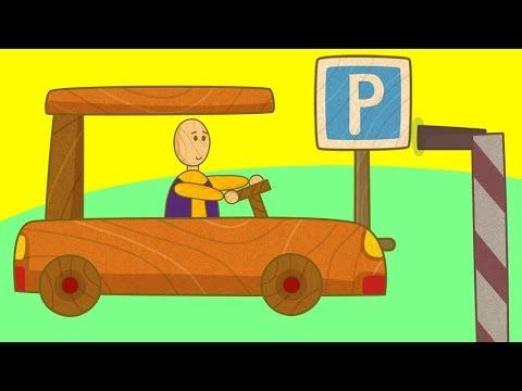 Çizgi Film. Çocuklar Için Arabalar - Otopark.