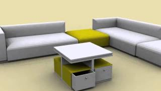 Square Coffee Table With Storage Drawers