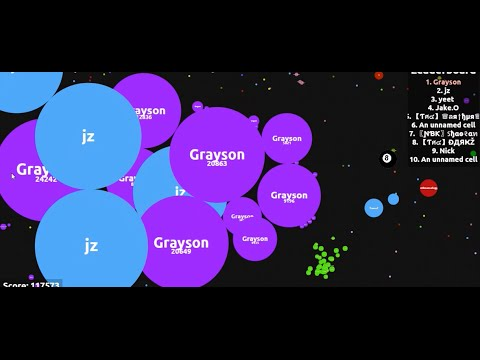 Instant merging server! Epic agar.io!**MUST WATCH**