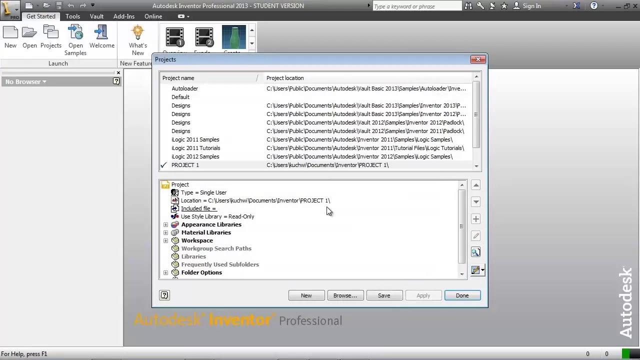 autodesk inventor tutorial project files youtube rh youtube com autodesk inventor 2013 tutorial files download autodesk inventor 2014 tutorial files