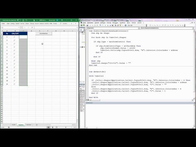 166. Excel-VBA: Eine alternative Formularsteuerung für Tabellen einrichten