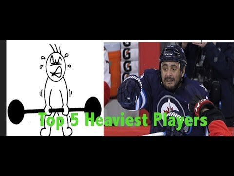 Top 5 Heaviest NHL Players 2017-18 edition