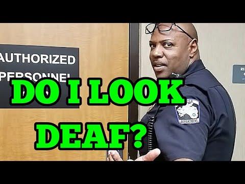Sulphur Springs Texas PD - Do I look deaf?