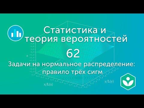 Задачи на нормальное распределение: правило трёх сигм (видео 62) | Статистика и теория вероятностей