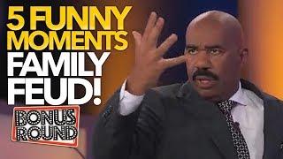 5 FUNNY MOMENTS On Family Feud US! Bonus Round